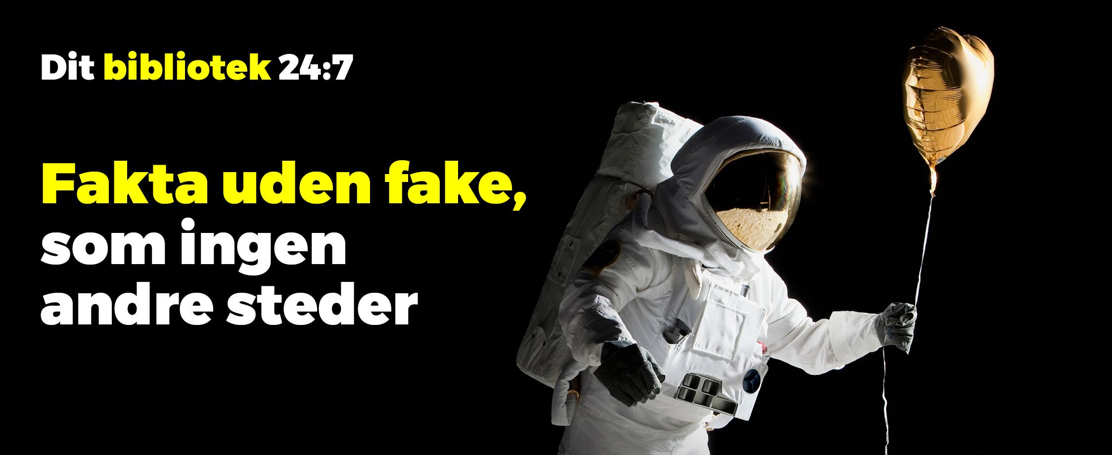 Fakta eller Fake.Fremhævet nyhed / Stort titelbillede. Format 2248x920