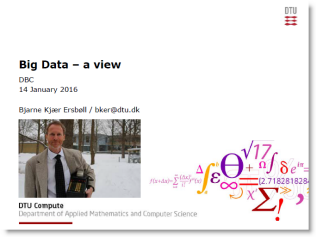 Big data - A view