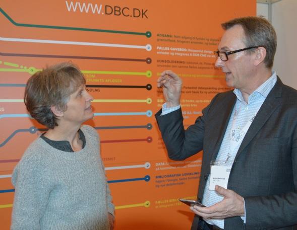Mats Hernvall og Gitte Barlach på DB's årsmøde i Århus.