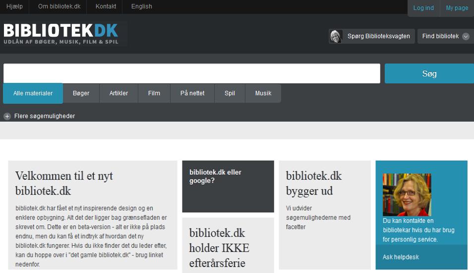 Det nye bibliotek.dk illustration oktober 2012