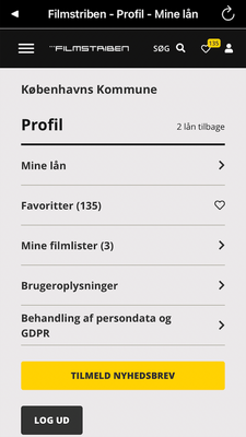 Eksempel på profilside