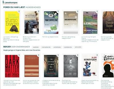 Læsekompasset kan give personaliserede forslag til bøger.