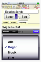 bibliotek.dk app iphone søg