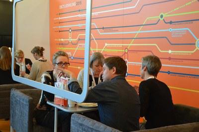 Frokost på DBC's stand på DB's årsmøde 2015