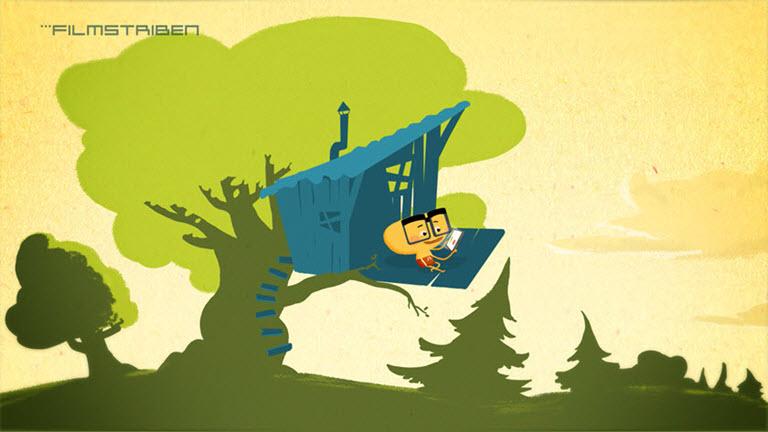 Klip fra introfilmen til Filmstribens børnefilm