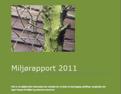Illustration til DBC's miljørapport 2011