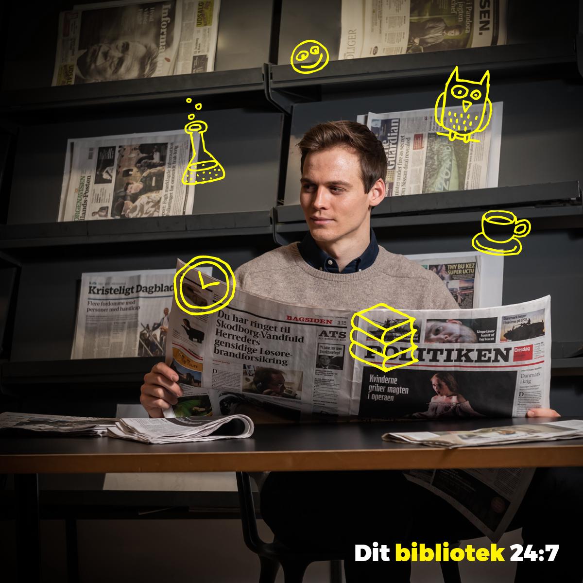 Dit bibliotek 24:7_3. Sociale medier opslag. bibliotek.dk