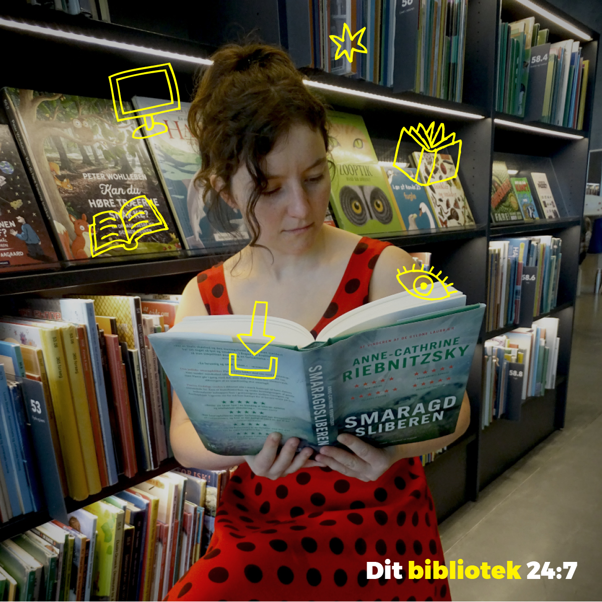 Dit bibliotek 24:7_6. Sociale medier opslag. Litteratursiden