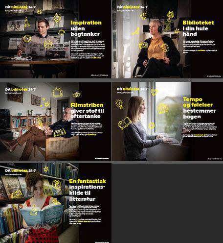 Dit bibliotek 24:7_illustration af A3 case-plakater