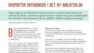 Eksporter referencer i det ny bibliotek.dk