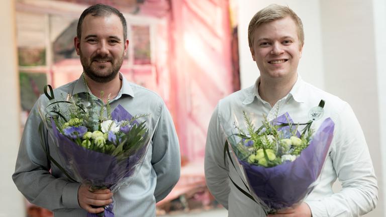 Vinderne af DBC Specialeprisen 2017 Lasse Drustrup Christensen og Lukas Nic Dalgaard
