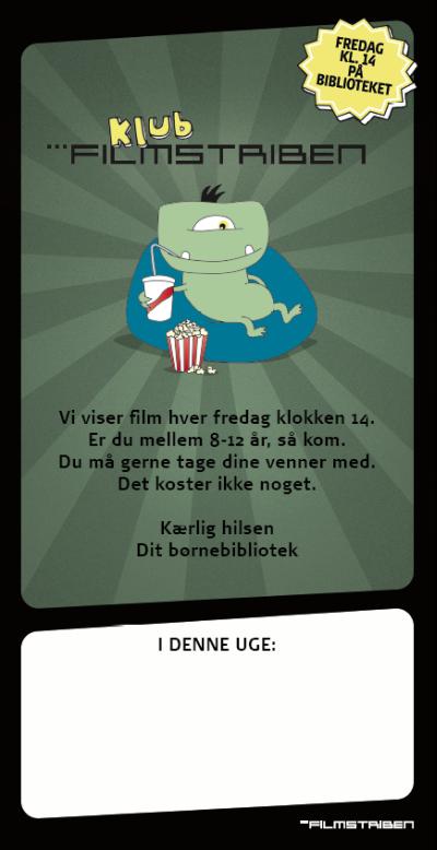 Plakat til Klub Filmstriben