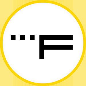 Filmstriben logo rundt. Hvidt.300x300